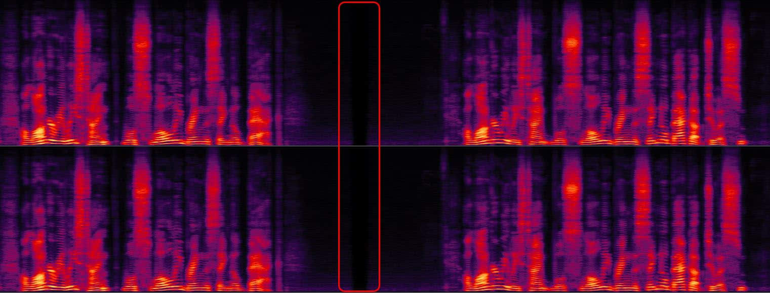 Spectrogram edit circled